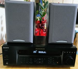 SONY AV.CONTROL CENTER AMP.+ ANALOG STEREO SPEAKERS. for Sale in Washington, DC