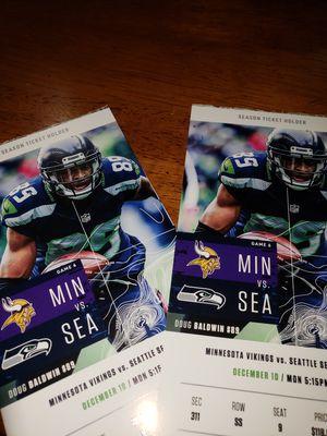 Seahawks vs Vikings for Sale in Monroe, WA