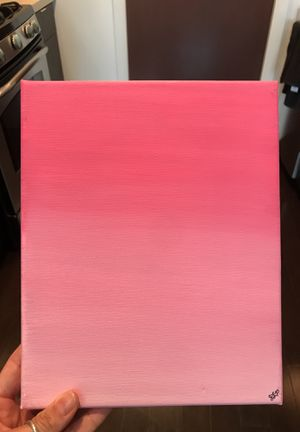 """Smooth Pink Ombré Painting 8x10"""" for Sale in Columbus, OH"""