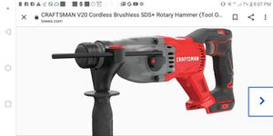 Craftsman Rotary hammer with separate bought baterie for Sale in Palm Harbor, FL