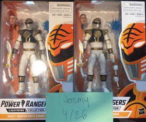 2 Brand New OG White Ranger Lighting Collection action figures. for Sale in Salt Lake City, UT