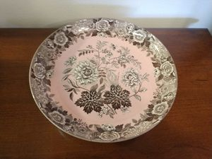 """Vintage Estate Spode Archive Collection """"Jasmine"""" Pink Bone China Oval Serving Bowl!! 11 3/4"""" W!! for Sale in Colorado Springs, CO"""