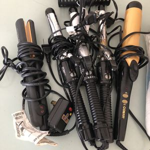 Flat Iron & 4 Curling Irons for Sale in Long Beach, CA