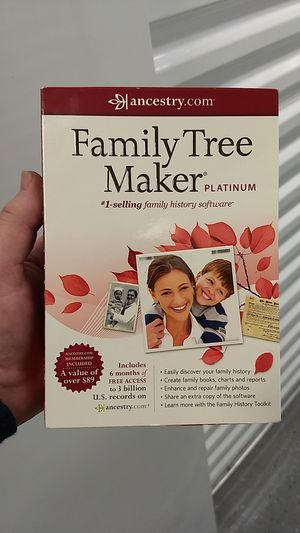 Family tree Maker Platinum. for Sale in Orlando, FL