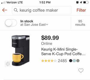 Keurig K-Mini Single Serve K-cup pod coffee machine for Sale in San Jose, CA
