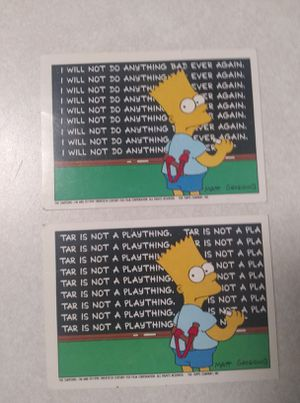 "Rare Bart Simpson ""Error Card"" and Corrected Card for Sale in Nashville, TN"