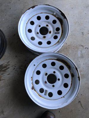 15x6 trailer wheels 5x4.5 pattern for Sale in Maryville, TN