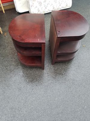 Wooden Half Moon Endtables for Sale in Boothwyn, PA