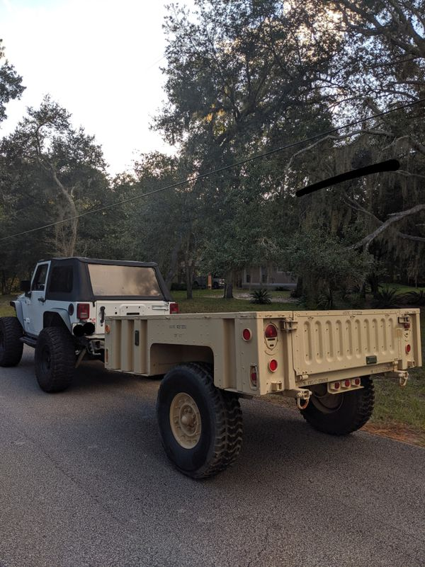 MILITARY TRAILER M1102 CAMPING UTILITY