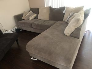 Large grey L shape sectional couch for Sale in Vero Beach, FL