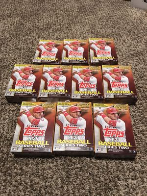 Topps 2020 Baseball series two lot 10 hanger boxes (67 cards each) target exclusives 8 fat packs (34cards each) Look for Dominguez, Witt, Tatis, t for Sale in French Creek, WV