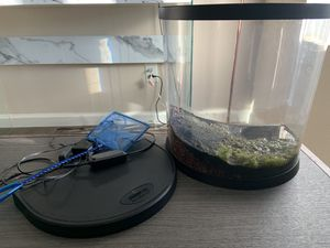 2.5 aquarium with filter and color changing lights plus free bubbler (not pictured) for Sale in Oceanside, CA