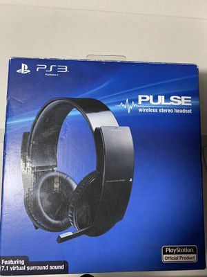 PlayStation 3 Pulse Wireless headset 7.1 Surround for Sale in Houston, TX