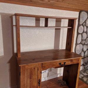 Oak Desk with Hutch for Sale in Ramona, CA