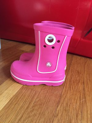 Pink Crocs rain boots for baby girl toddler size 7-8 in great condition org. Price $38 for Sale in Nashville, TN