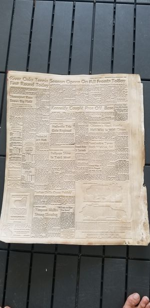 1961 newspaper/ i think its made from sheep's skin. Very rare/ dumbells are for size comparison for Sale in Chula Vista, CA