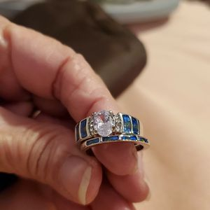 Beautiful .925 Dimond Ring Set for Sale in Modesto, CA
