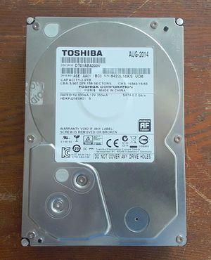 Toshiba 2TB Sata Hard Drive for Sale in Stockton, CA