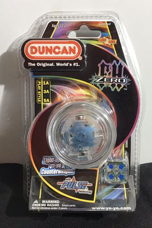 Rare Duncan Toys Duncan FH Zero Light-Up Yo Yo with Pulse Technology / New DUNCAN TOYS-Pro Z With Mod Spacers. Great for looping and string tricks! T for Sale in Oakland Park, FL