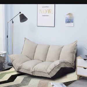 New Adjustable Beige Lazy Sofa Futon Gaming Sofa for Sale in Los Angeles, CA