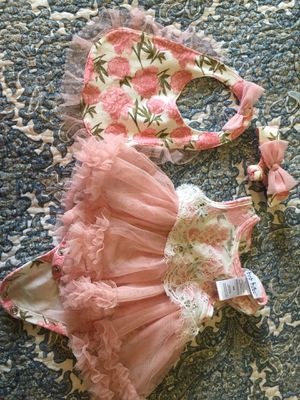 0-3 month girl dress and head band for Sale in Port Charlotte, FL