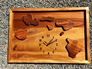 Hawaiian koa wood clock for Sale in Mililani, HI