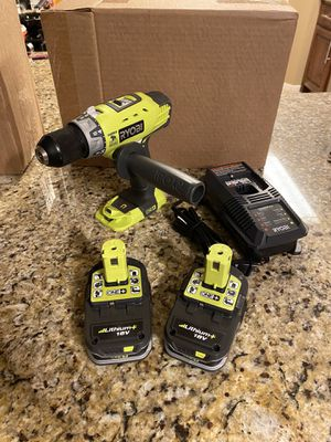 Ryobi Hammer Drill Kit with 2 Batteries and Charger for Sale in Houston, TX