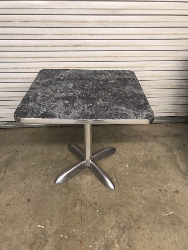 Restaurant table, Formica top aluminum base