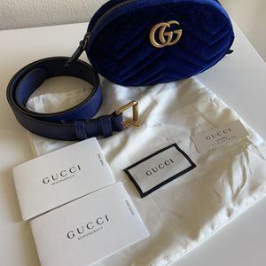 Gucci Marmont Velvet Blue Belt Bag for Sale in Costa Mesa, CA