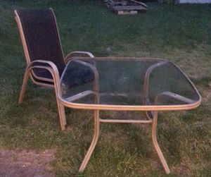 Glass patio table and chairs, decent shape for Sale in Boston, PA