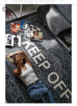 """""""Keep Off """" Rug by Designer Virgil Abloh ,Black and white Brand for Sale in Frisco, TX"""