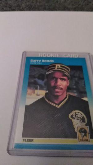 1987 Fleer Rookie Card *Barry Bonds for Sale in Shelton, CT