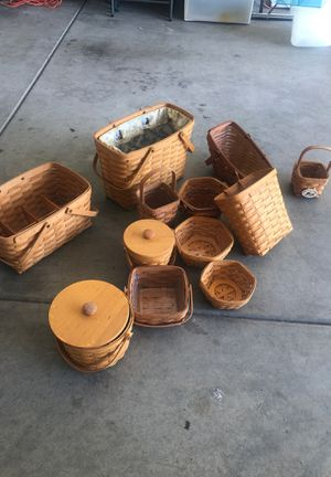 Longaberger basket collection for Sale in Murrieta, CA