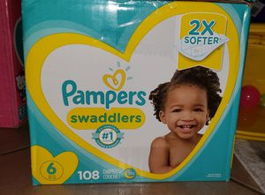Pampers swaddlers size 6 -108 ct for Sale in Glendale, AZ