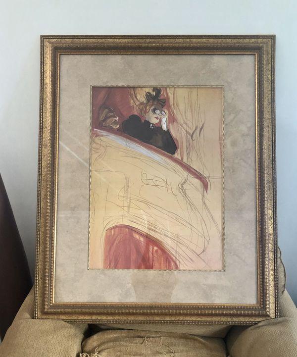 La Loge by Henri de Toulouse-Lautrec Framed Art