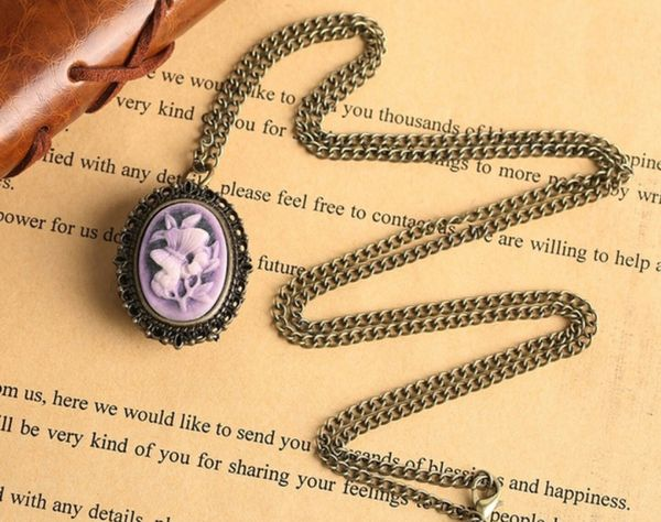 Mother's Day Gift Pocket Watch Necklace