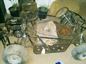 Go cart plus two tires an seat for Sale in Phoenix, AZ