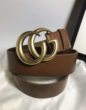 Gucci GG Belt (Brown w/gold buckle) for Sale in Dallas, TX
