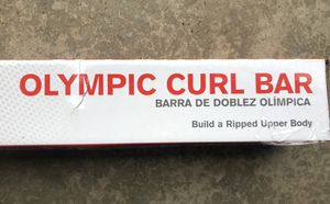 New Weider Olympic Curl Bar With Clips for Sale in Tigard, OR