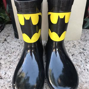 Batman Rain Boots Size:1 for Sale in Ontario, CA