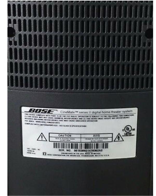 Bose CineMate Series 2 tv sound system