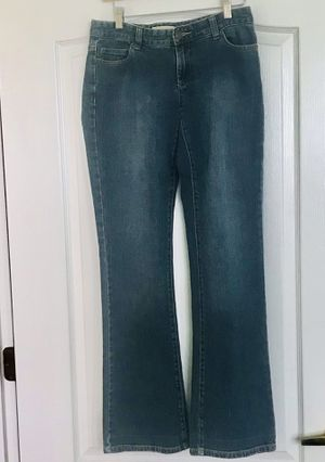 "Michael Kors Womens Jeans ""MK"" Studded Pocket Stretch Denim Boot Cut 4 EUC for Sale in Estero, FL"