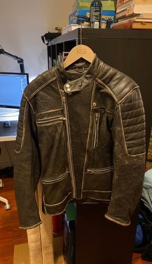 Men's Leather Motorcycle Jacket for Sale in Seattle, WA