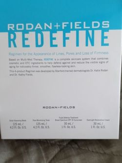 Rodan+Fields Redefine Life Changing Skin Care (4items) Included for Sale in Apple Valley,  CA