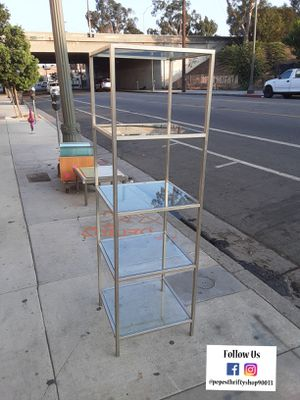Metal 5-tier display shelf .5 in glass shelves for Sale in Los Angeles, CA