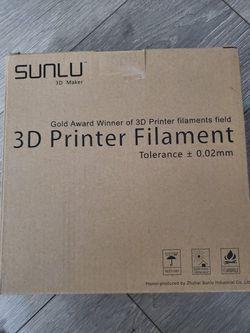 Sunlu 3d Printer Filament for Sale in Chicago,  IL