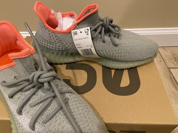 Brand new with tag and box adidas yeezy boost 350 v2 desert sage men authentic sneakers running shoes
