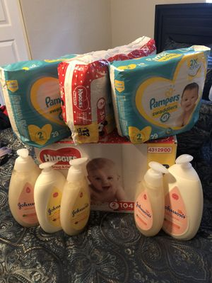Baby pampers and wash with lotion deal for Sale in Miami Gardens, FL