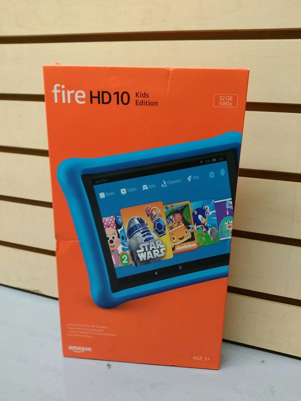 $199.99 - NEW AMAZON FIRE HD 10 Kids Ed. - BLUE