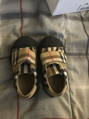 Size 21 Burberry toddler shoes for Sale in Ellenwood, GA